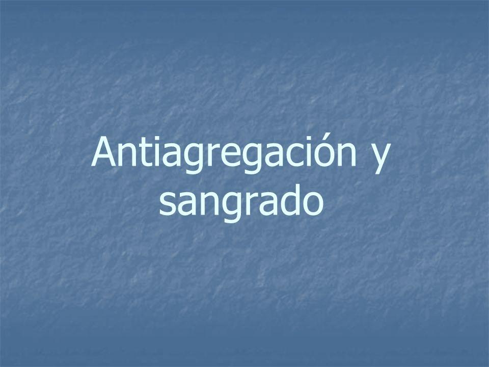 Antiagregación y sangrado