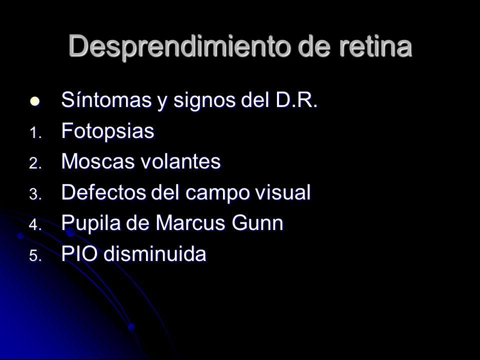 Síntomas y signos del D.R.Síntomas y signos del D.R.