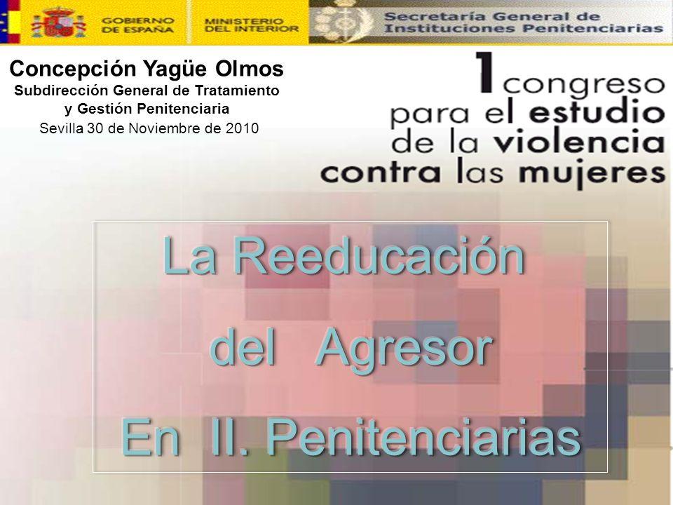 11 Concepción Yagüe Olmos Subdirección General de Tratamiento y Gestión Penitenciaria Sevilla 30 de Noviembre de 2010