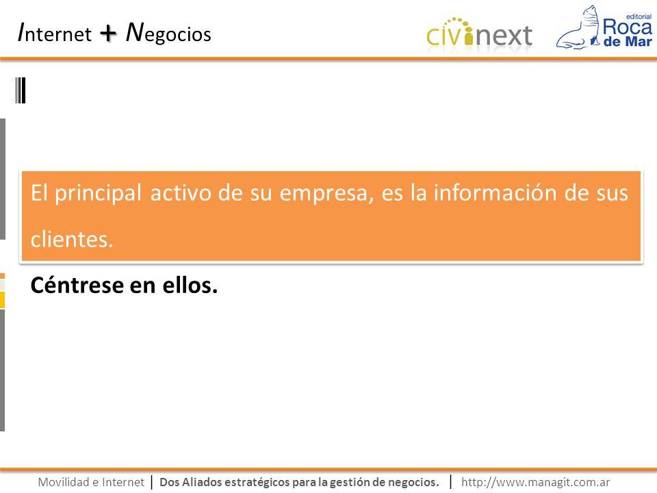Movilidad e Internet Dos Aliados estratégicos para la gestión de negocios. | I nternet N egocios + | http://www.managit.com.ar El principal activo de