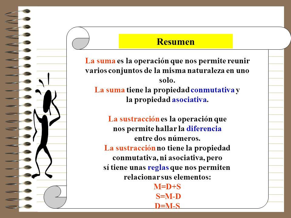 Si al Minuendo y al Sustraendo le sumas o le restas un mismo valor, la Diferencia no varía. 18 _ 10 = 8 _ _ 16 _ 10 = 6 ___ ___ 2 ¡ Ves ! el resultado