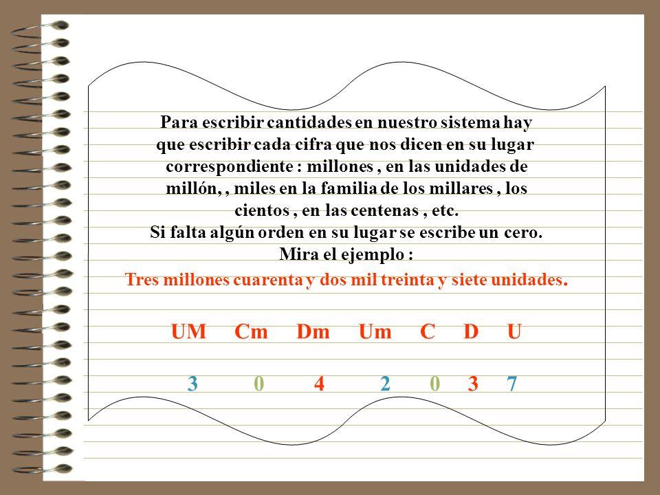 Por el contrario para ver en una cantidad cuantas unidades de un determinado orden hay, bastará con dividir por 10,100,1000,etc o lo que es lo mismo s