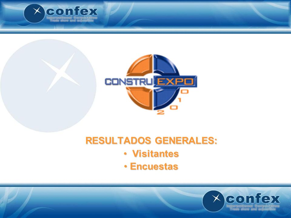 En su opinion la Exposicion Construexpo 2010 estuvo: Base: 63 expositores