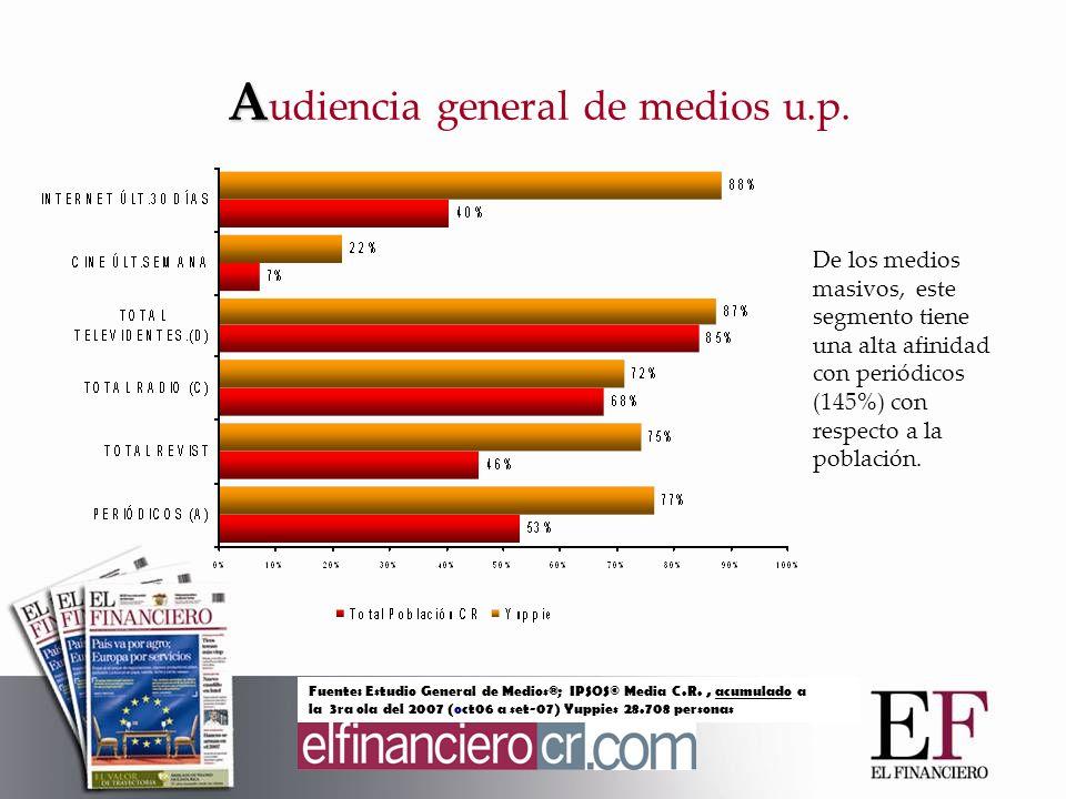 A A udiencia general de medios u.p.