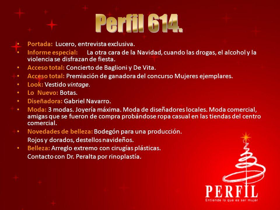 Portada: Lucero, entrevista exclusiva. Informe especial:La otra cara de la Navidad, cuando las drogas, el alcohol y la violencia se disfrazan de fiest