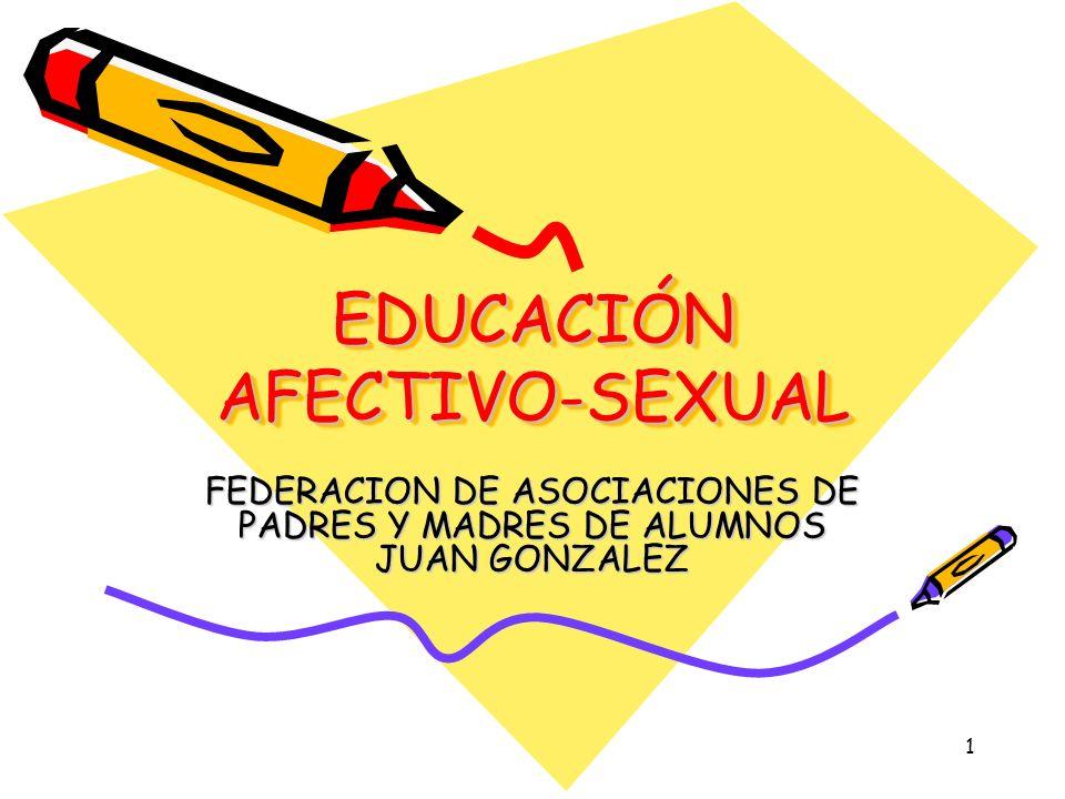 1 EDUCACIÓN AFECTIVO-SEXUAL FEDERACION DE ASOCIACIONES DE PADRES Y MADRES DE ALUMNOS JUAN GONZALEZ
