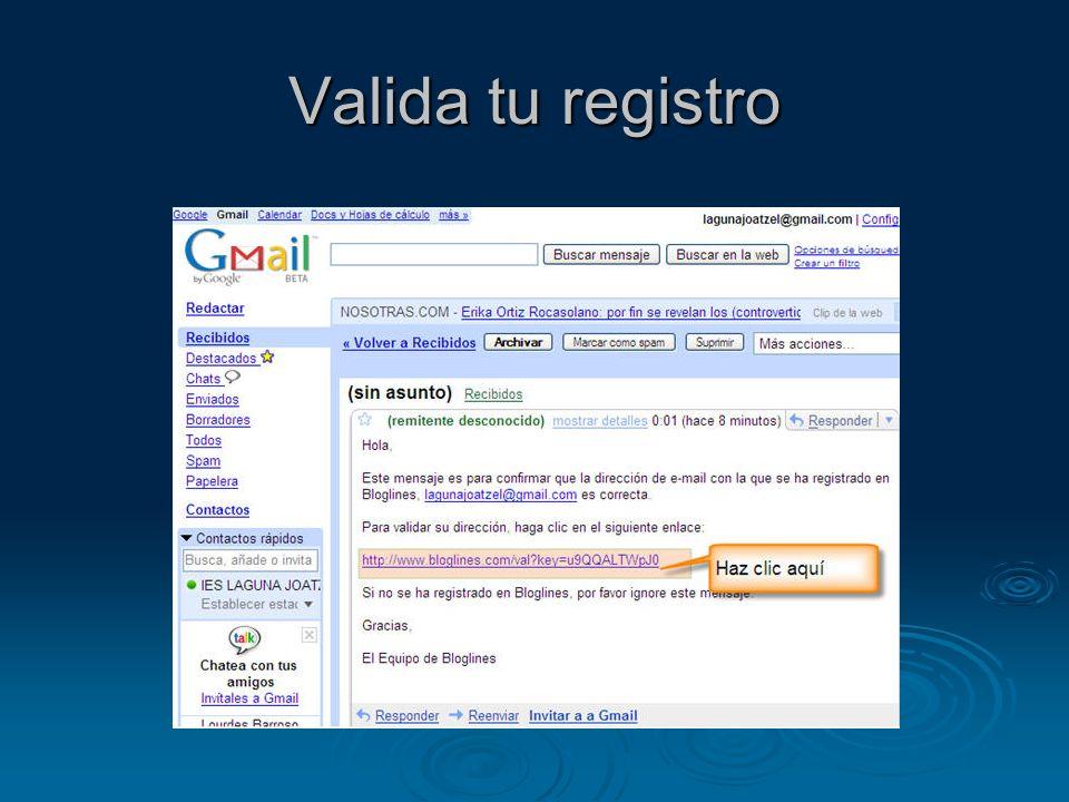 Valida tu registro