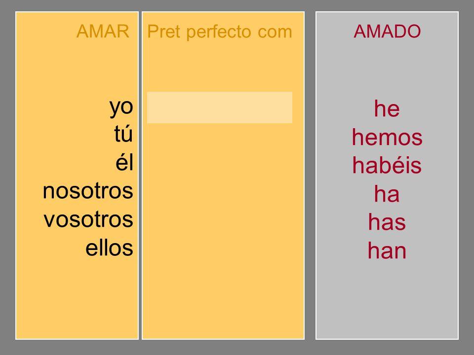 Completa el pretérito perfecto compuesto de indicativo.
