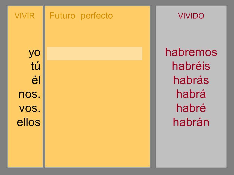 Completa el futuro perfecto compuesto de indicativo.