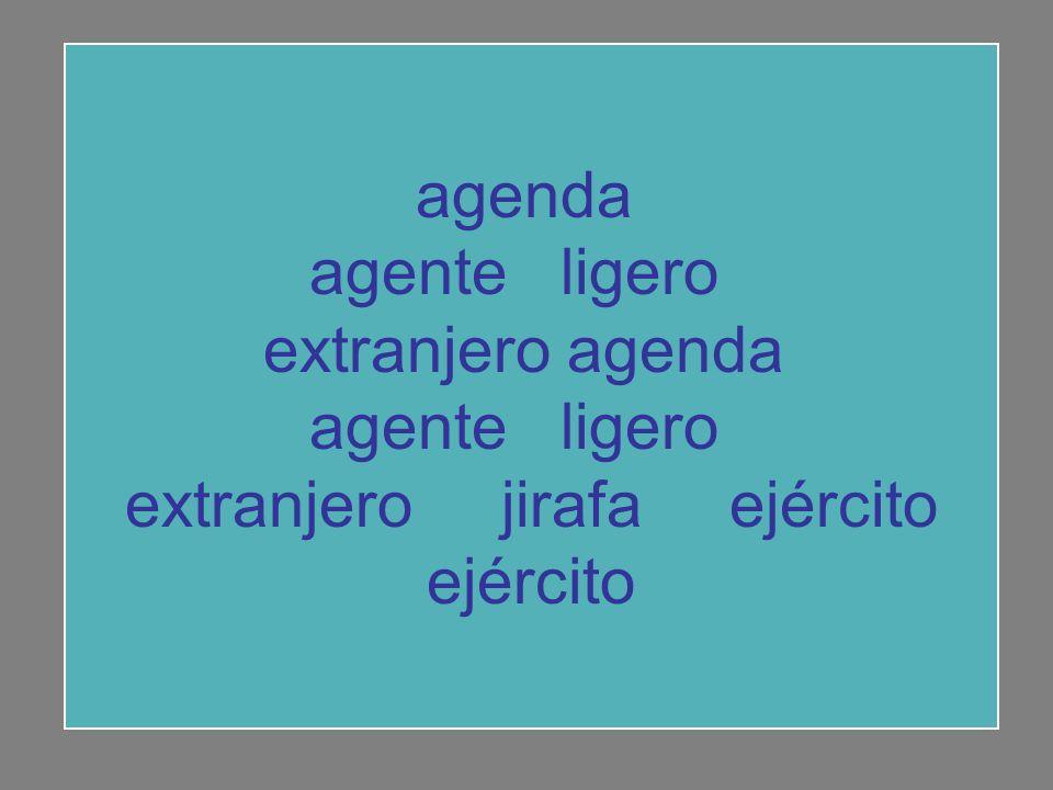agenda agente ligero extranjero agenda agente ligero extranjero jirafa ejército ejército