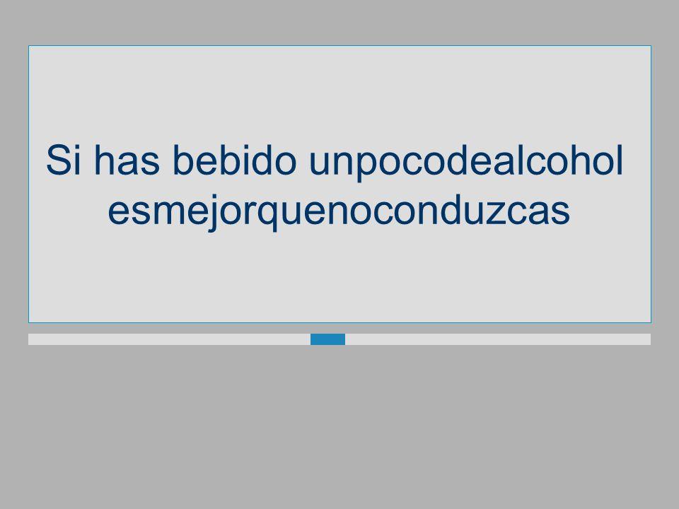 Si has bebidounpocodealcohol esmejorquenoconduzcas