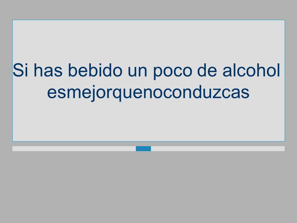 Si has bebido un poco dealcohol esmejorquenoconduzcas