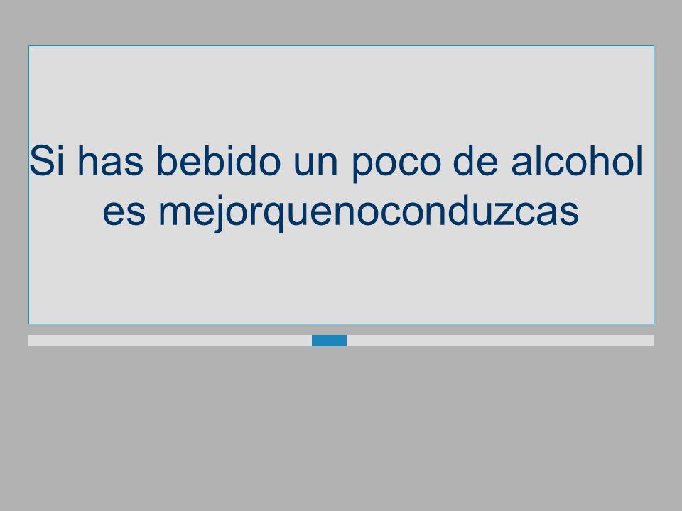 Si has bebido un poco de alcohol esmejorquenoconduzcas