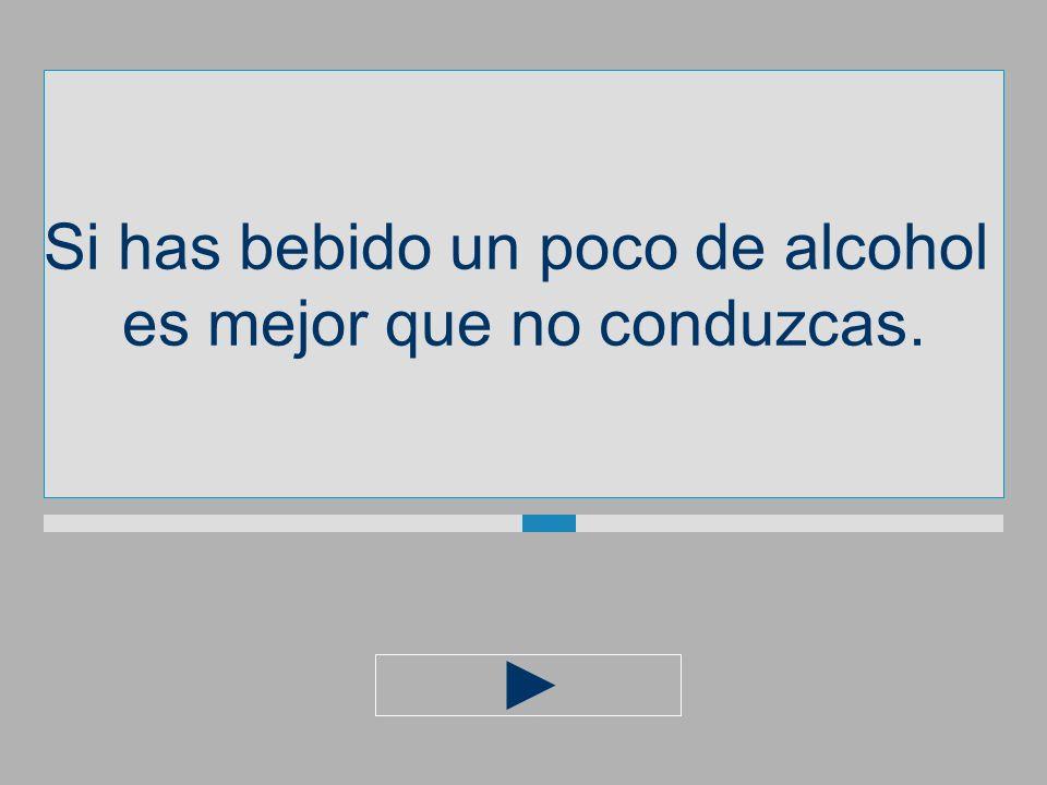Si has bebido un poco de alcohol es mejor que noconduzcas