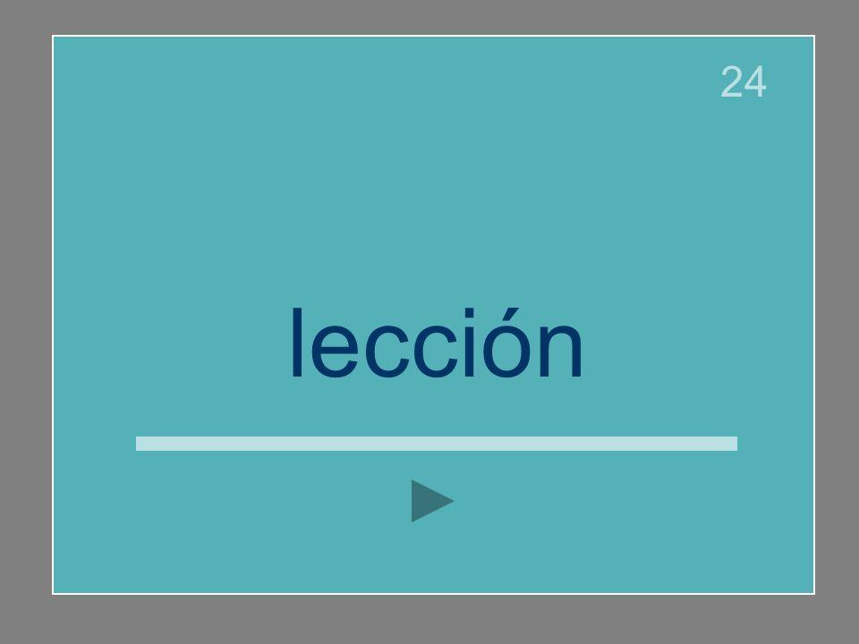 lección 24
