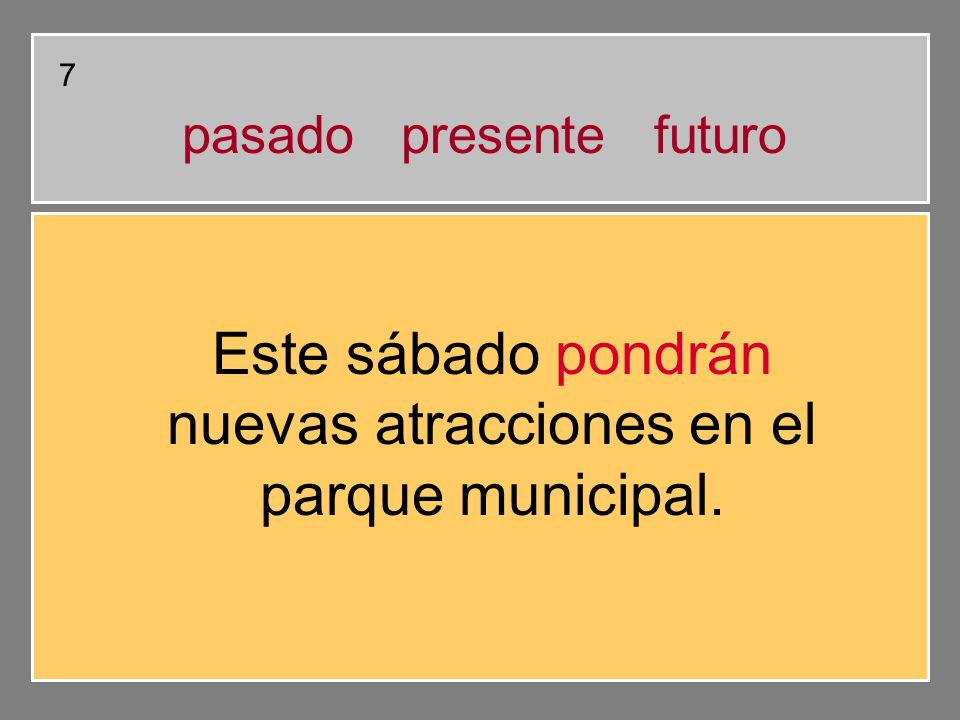 Señala el VERBO Este sábado pondrán nuevas atracciones en el parque municipal. 7