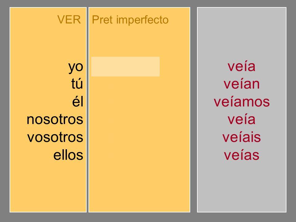 Completa el pretérito imperfecto de indicativo.