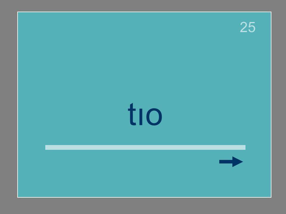 Señala la letra que debe llevar tilde. Si la palabra no lleva tilde haz clic en la flecha.