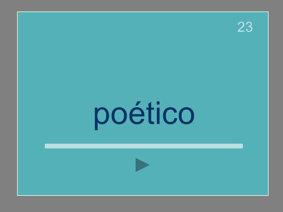 poético 23