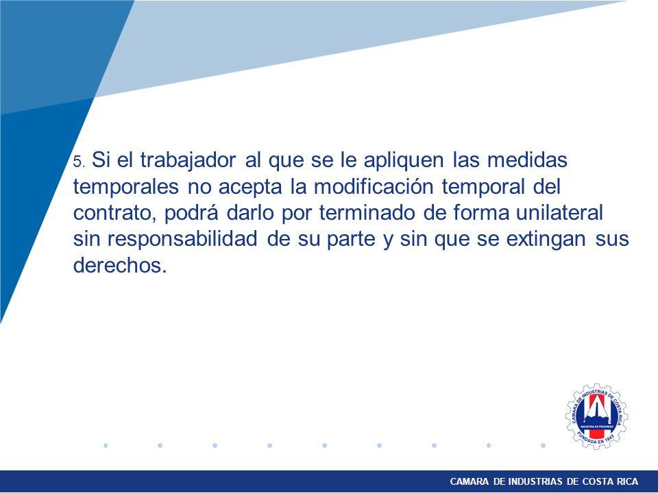 CAMARA DE INDUSTRIAS DE COSTA RICA 5.