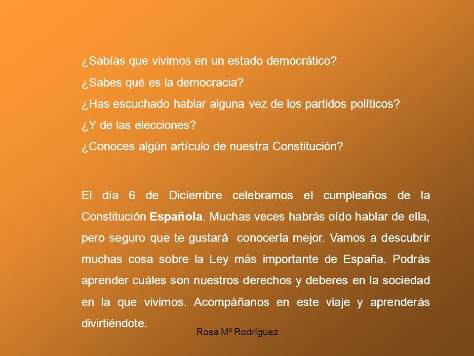 ¿Sabías que vivimos en un estado democrático? ¿Sabes qué es la democracia? ¿Has escuchado hablar alguna vez de los partidos políticos? ¿Y de las elecc