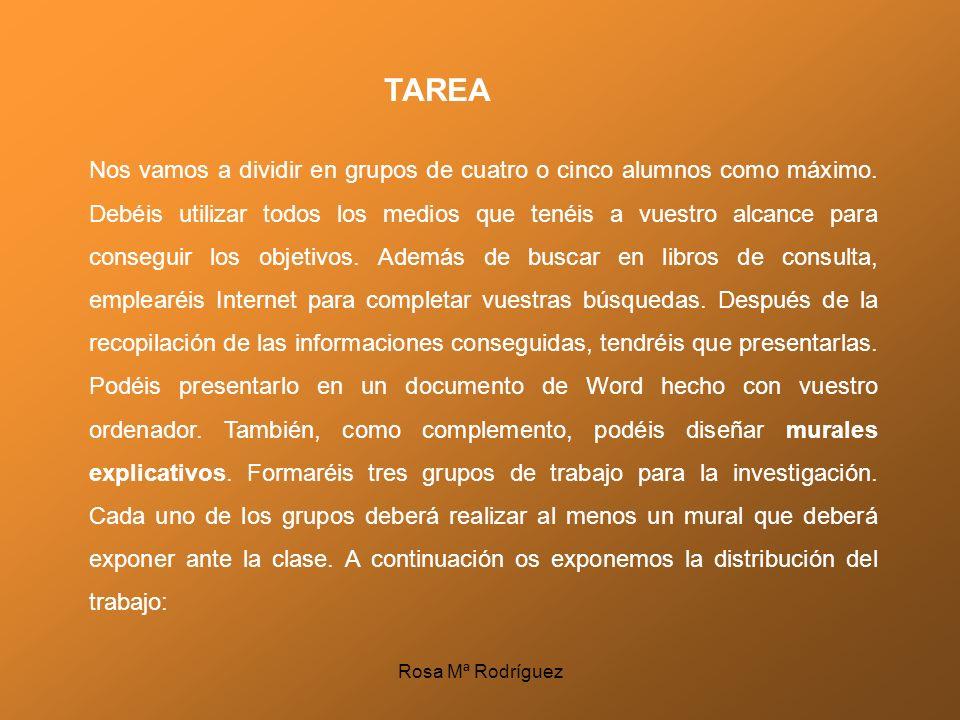 Grupo 1: Vivimos en un Estado Democrático: -Qué es un Estado democrático -Los partidos políticos -Las elecciones -La Constitución Española -Los Estatutos de Autonomía Grupo 2: Las Instituciones municipales y autonómicas: -El gobierno del municipio -El Parlamento autonómico -El Gobierno autonómico -Las instituciones de la Comunidad de Andalucía Rosa Mª Rodríguez