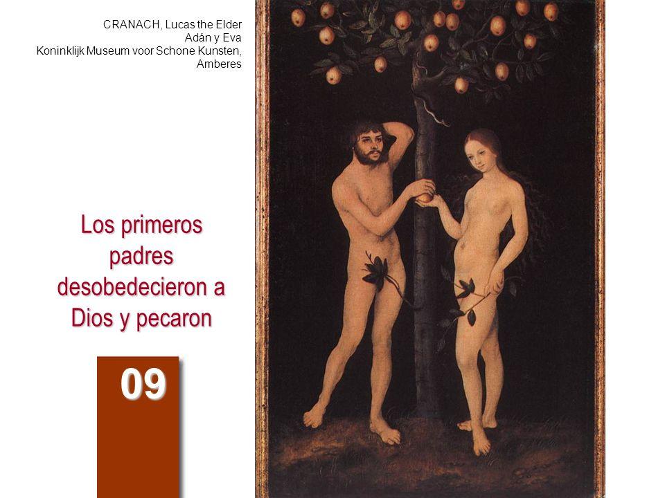 Los primeros padres desobedecieron a Dios y pecaron 09 CRANACH, Lucas the Elder Adán y Eva Koninklijk Museum voor Schone Kunsten, Amberes