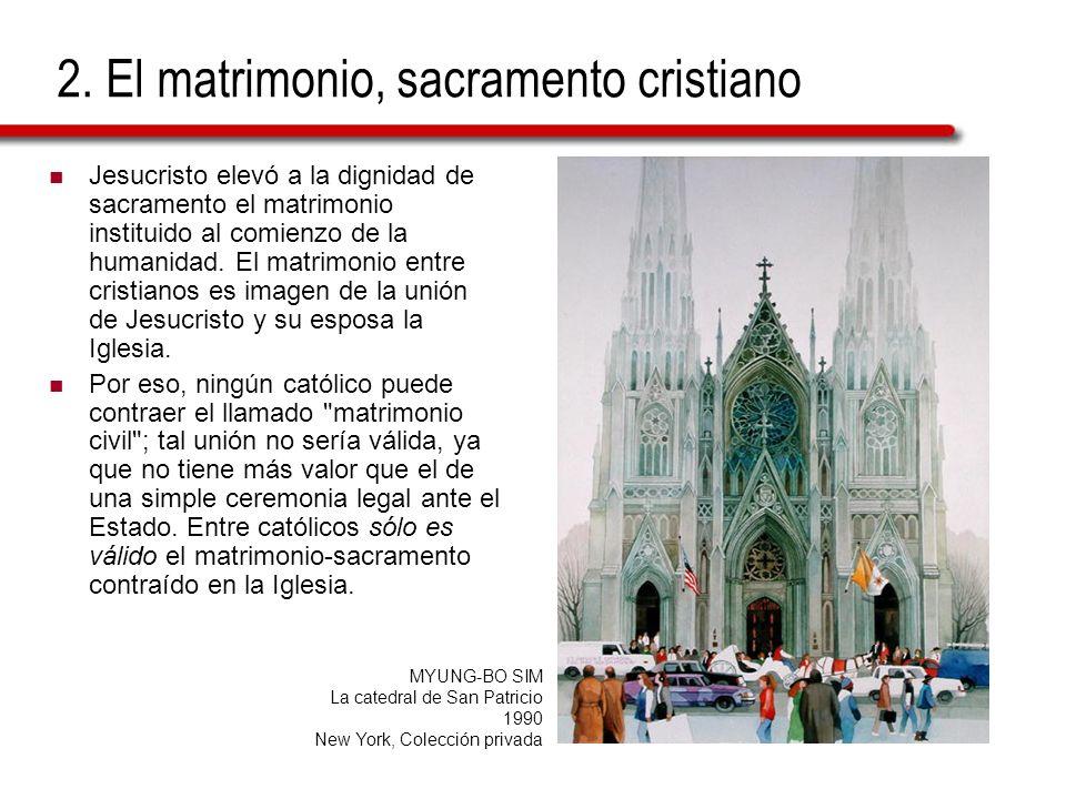 2. El matrimonio, sacramento cristiano Jesucristo elevó a la dignidad de sacramento el matrimonio instituido al comienzo de la humanidad. El matrimoni