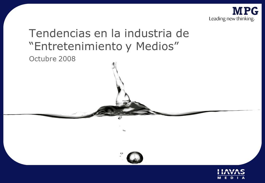 Tendencias en la industria de Entretenimiento y Medios Octubre 2008