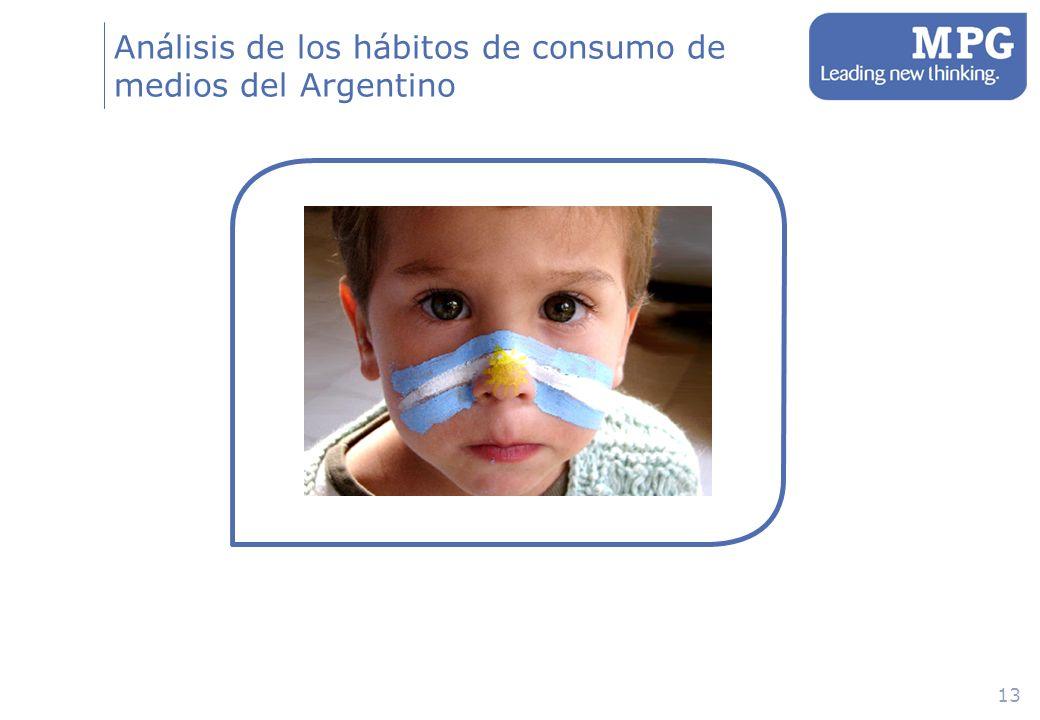 13 Análisis de los hábitos de consumo de medios del Argentino