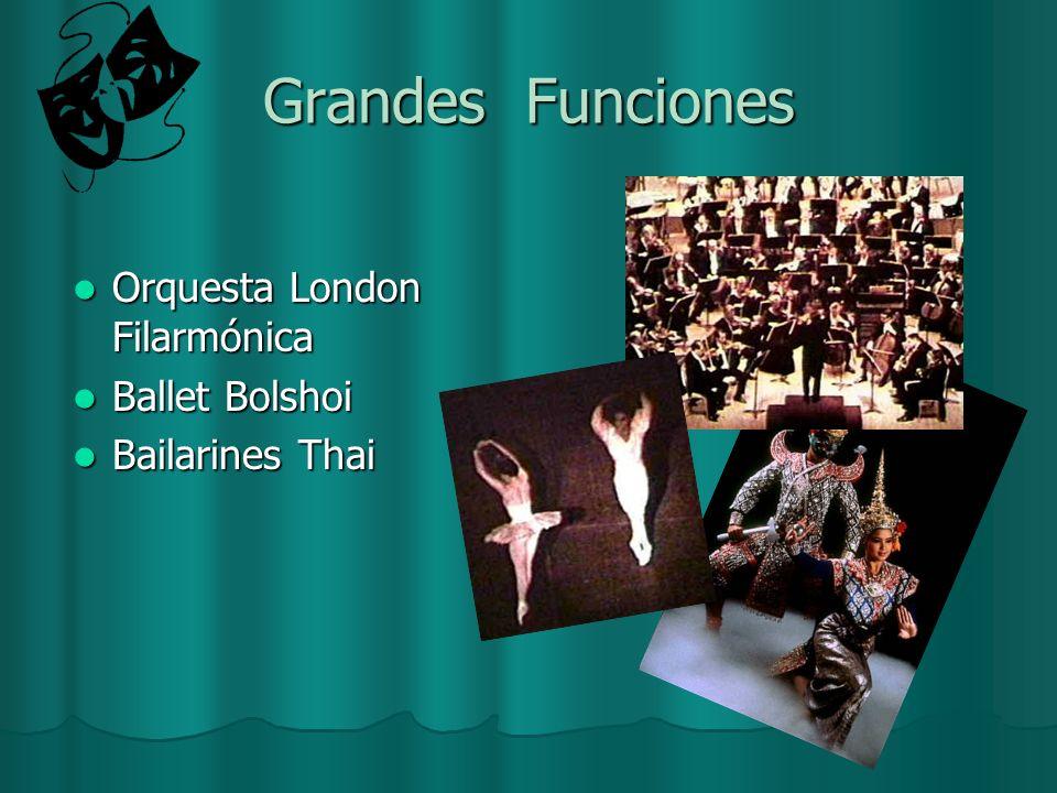 Grandes Funciones Orquesta London Filarmónica Orquesta London Filarmónica Ballet Bolshoi Ballet Bolshoi Bailarines Thai Bailarines Thai