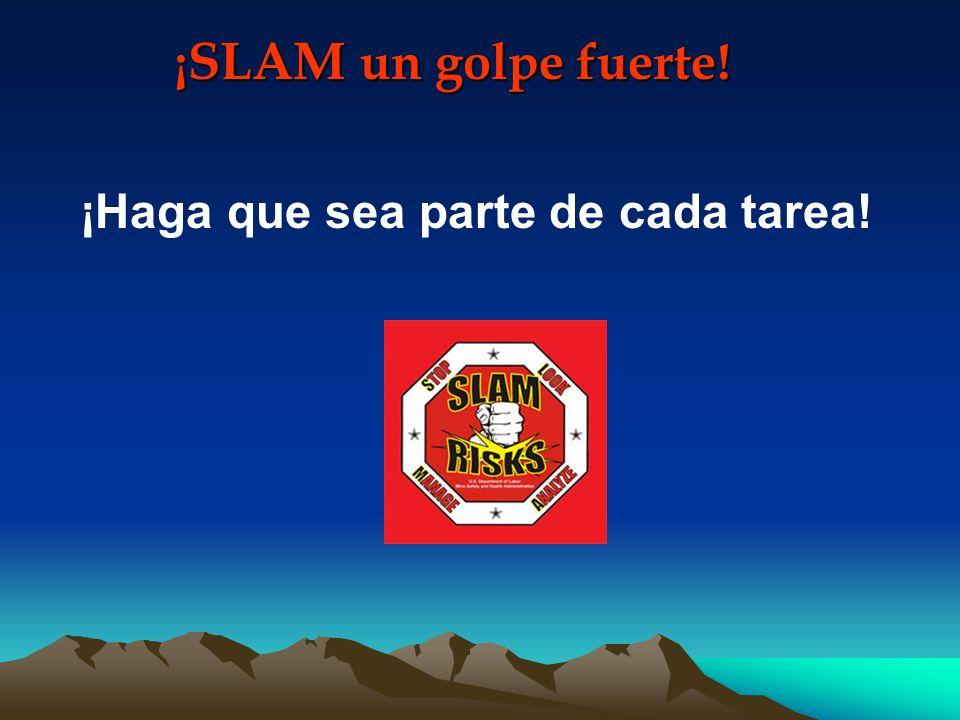 SLAM Mire Los RIESGOS: Stop (Deténgase) Look (Mire) Analyze (Analice) Manage (Administre )