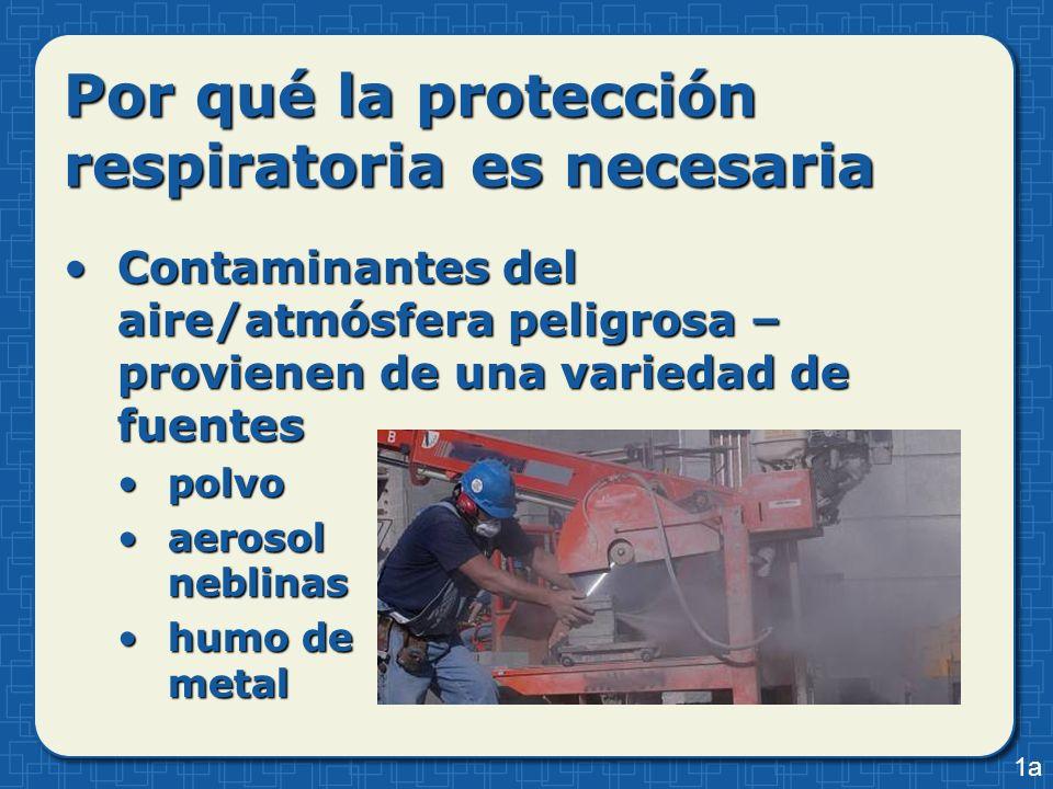 Por qué la protección respiratoria es necesaria Contaminantes del aire/atmósfera peligrosa – provienen de una variedad de fuentesContaminantes del air