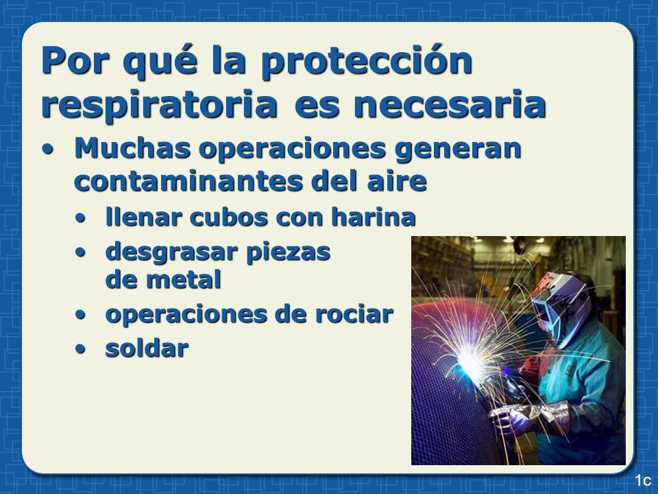 Muchas operaciones generan contaminantes del aireMuchas operaciones generan contaminantes del aire llenar cubos con harinallenar cubos con harina desg