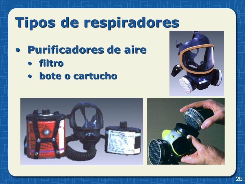 Tipos de respiradores Purificadores de airePurificadores de aire presión negativapresión negativa purificador de aire propulsadopurificador de aire propulsado 2c