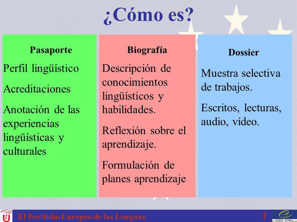 8 El Portfolio Europeo de las Lenguas ¿Quién lo usa.