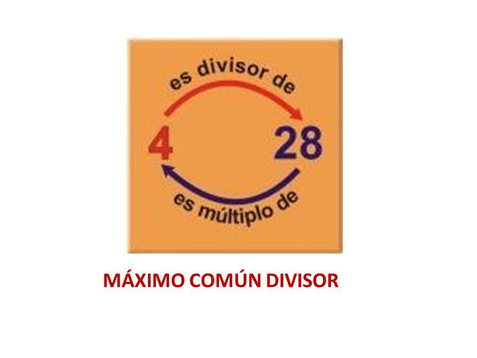 MÁXIMO COMÚN DIVISOR