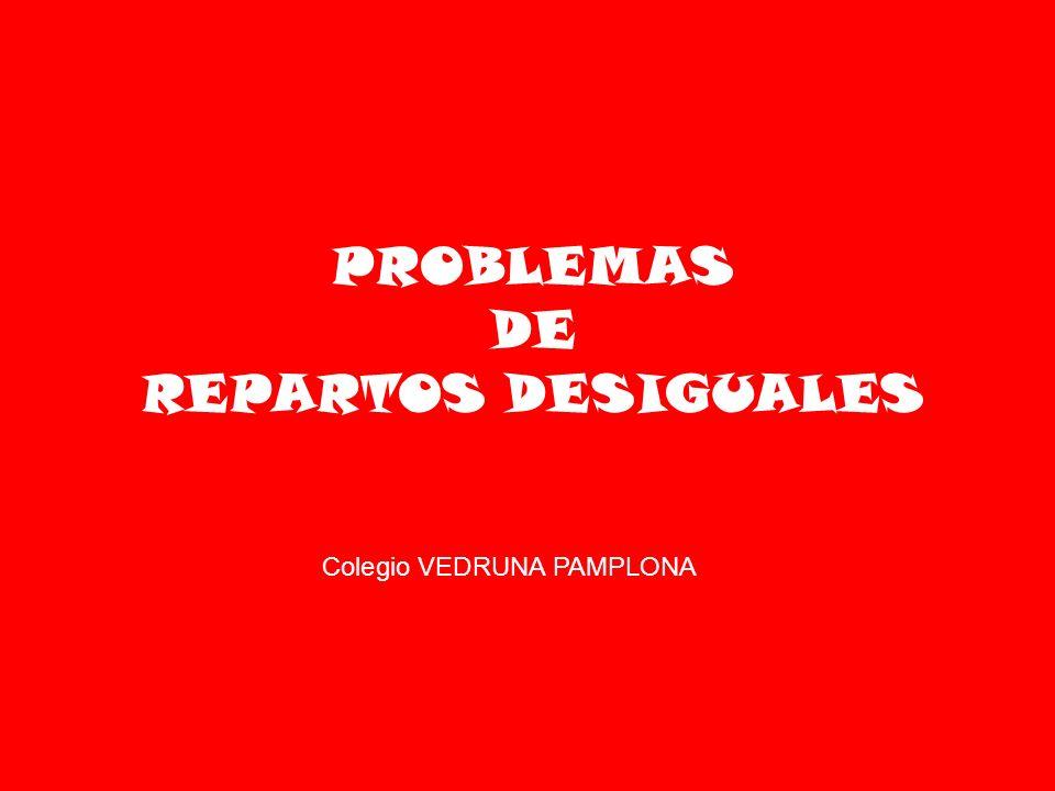 PROBLEMAS DE REPARTOS DESIGUALES Colegio VEDRUNA PAMPLONA