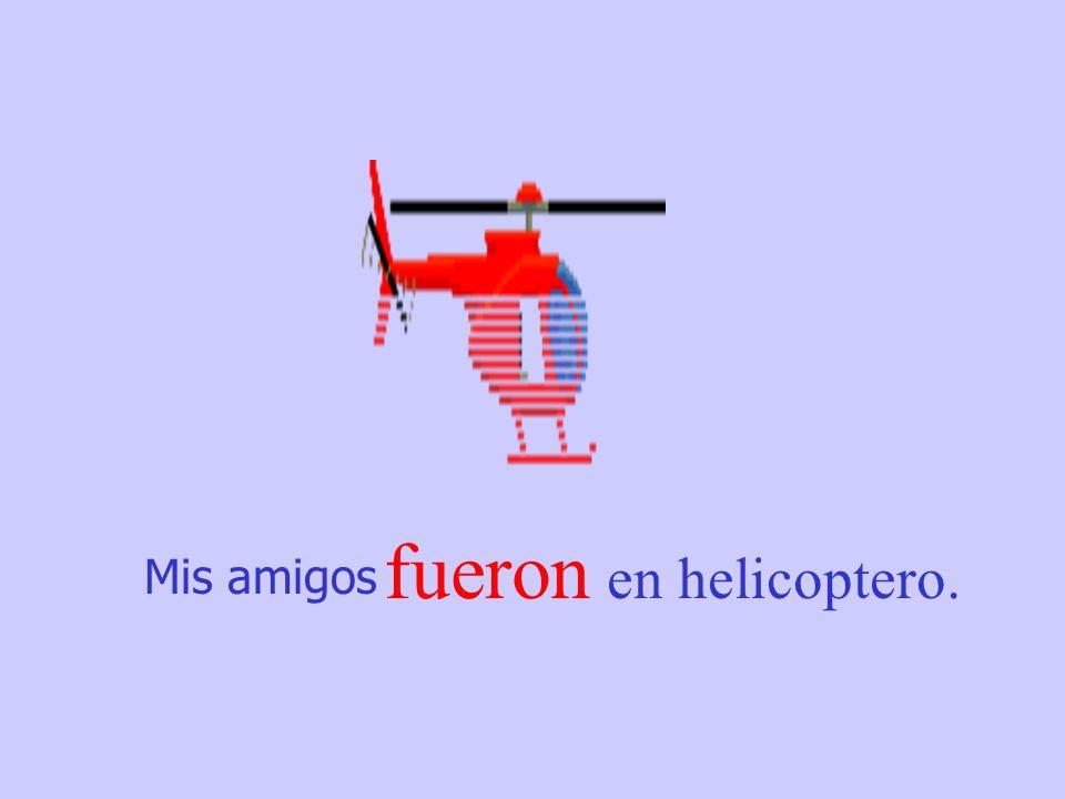 Mis amigos fueron en helicoptero.
