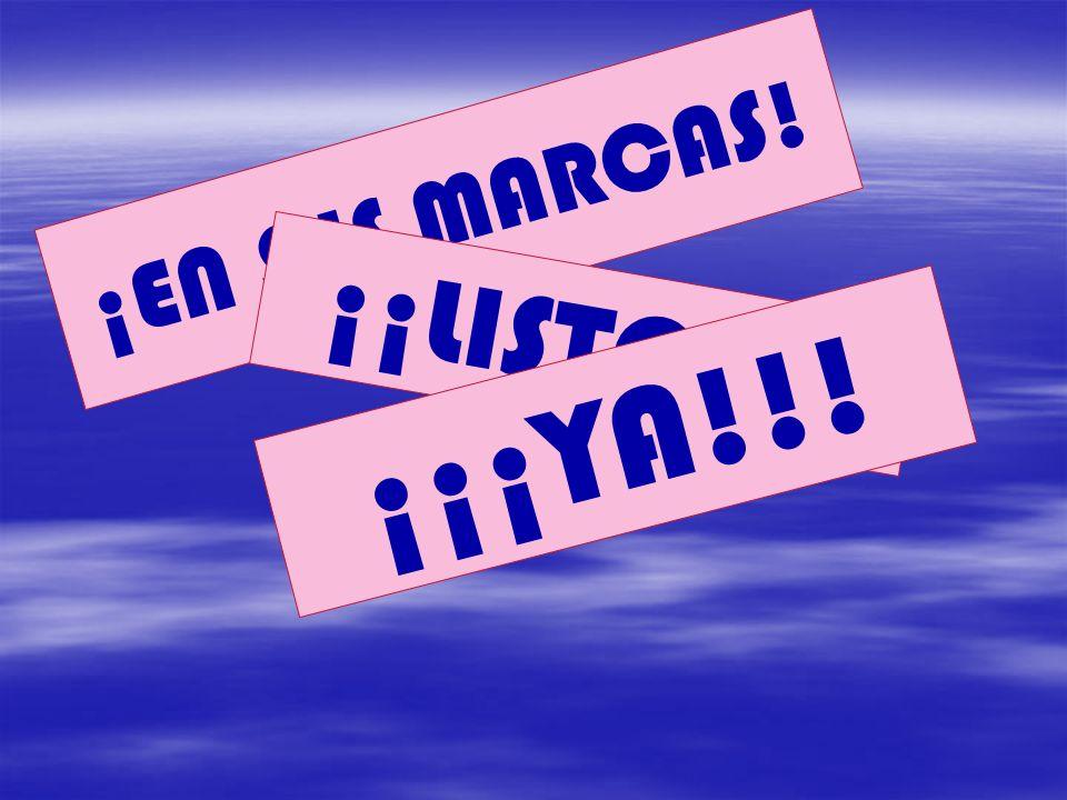 ¡EN SUS MARCAS! ¡¡LISTOS!! ¡¡¡YA!!!