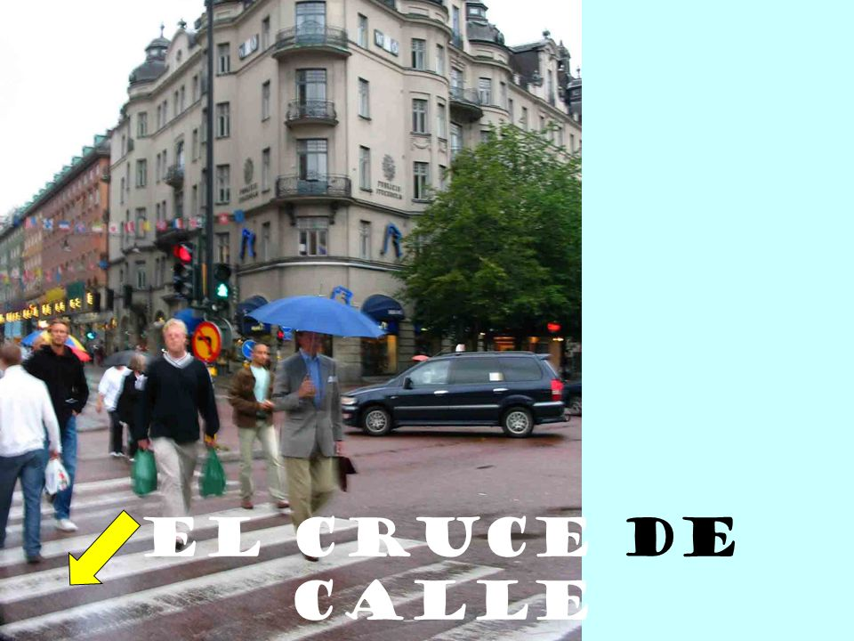 El cruce de calle