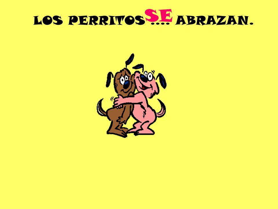 LOS PERRITOS …. ABRAZAN. SE