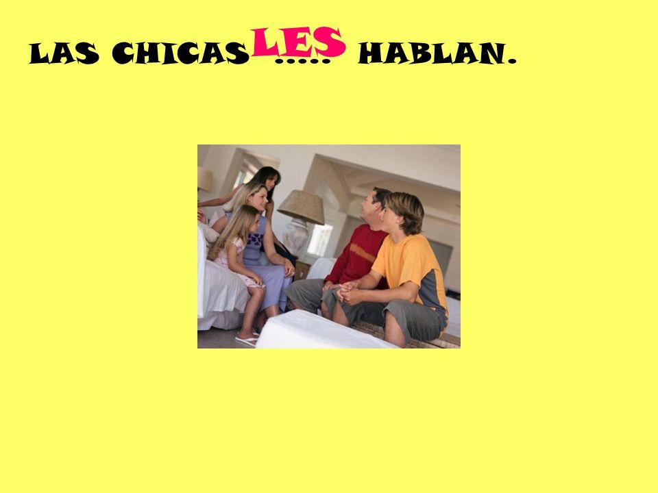 LAS CHICAS..… HABLAN. LES