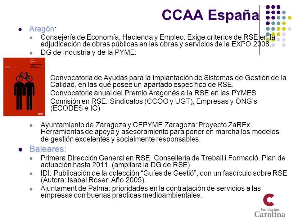 CCAA España Aragón Aragón: Consejería de Economía, Hacienda y Empleo: Exige criterios de RSE en la adjudicación de obras públicas en las obras y servi