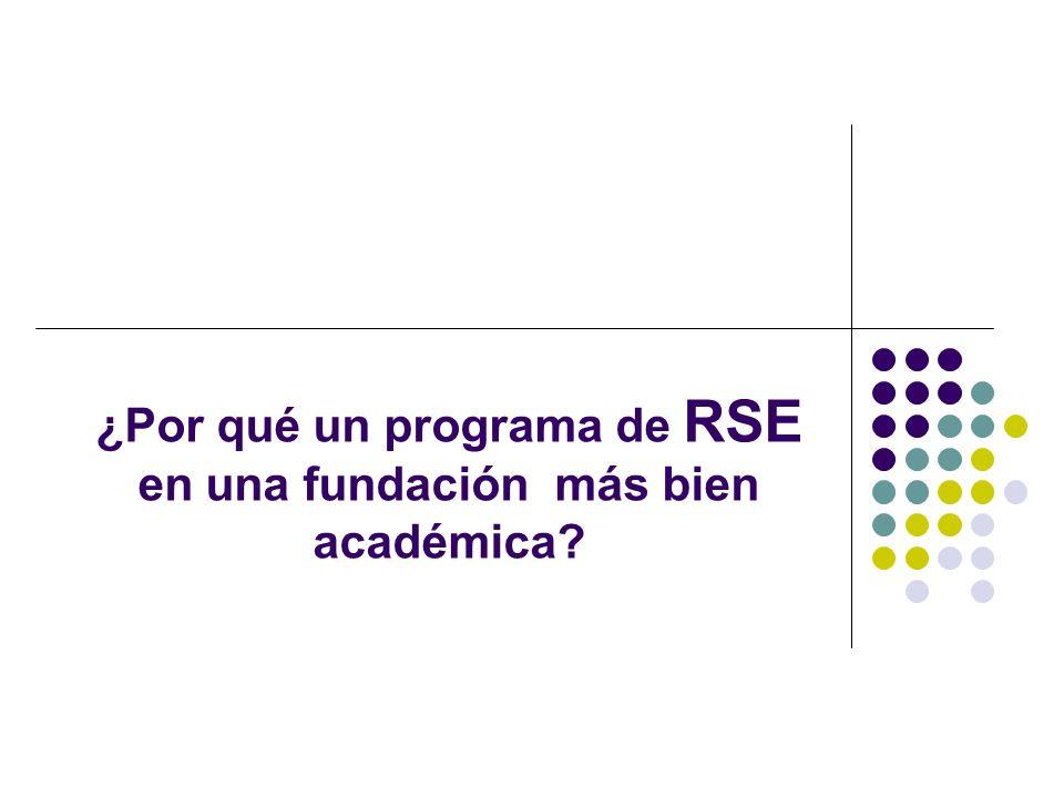 ¿Por qué un programa de RSE en una fundación más bien académica?