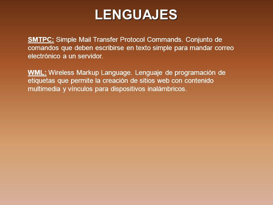 LENGUAJES SMTPC: Simple Mail Transfer Protocol Commands.