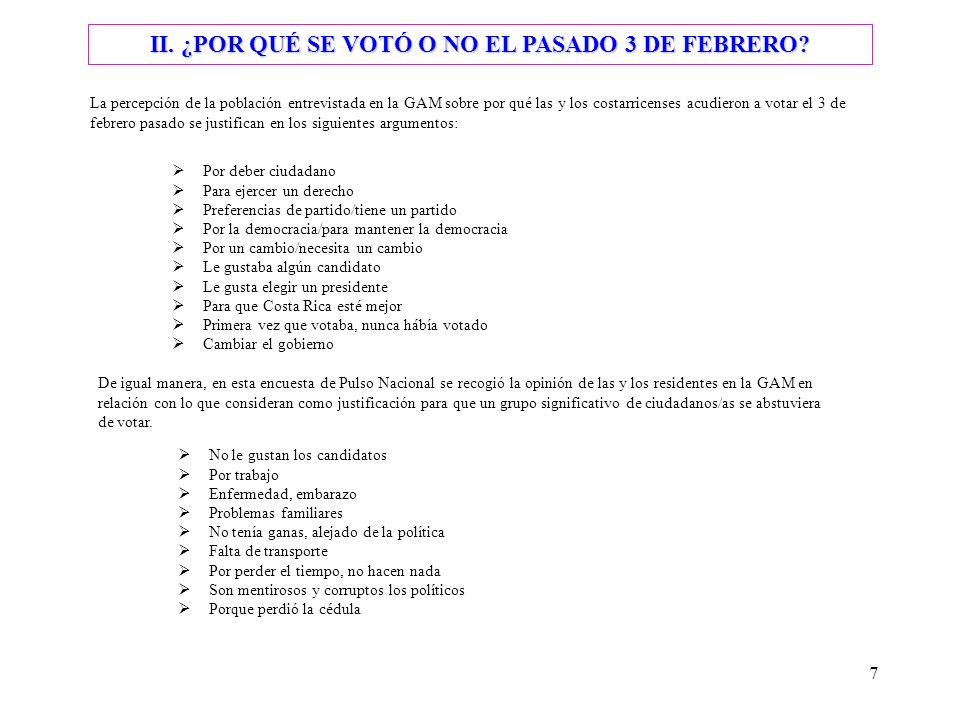 7 II. ¿POR QUÉ SE VOTÓ O NO EL PASADO 3 DE FEBRERO.