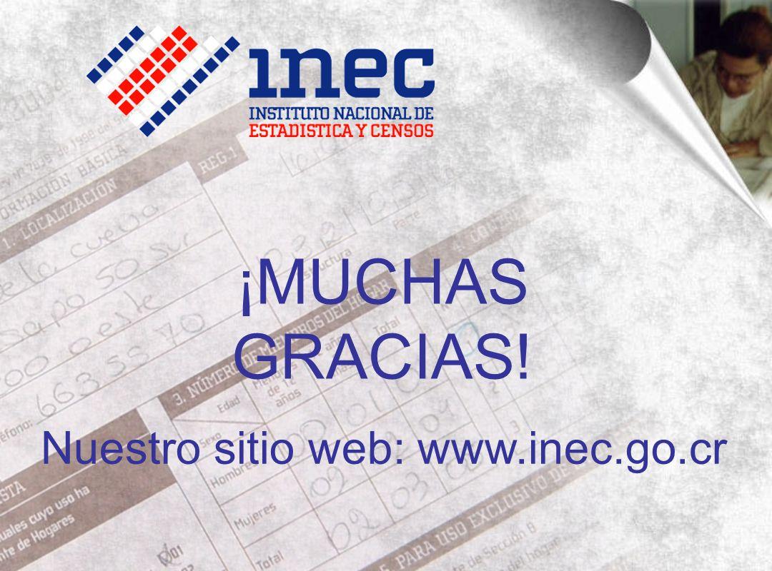 ¡MUCHAS GRACIAS! Nuestro sitio web: www.inec.go.cr
