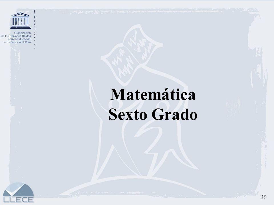 Matemática Sexto Grado 15