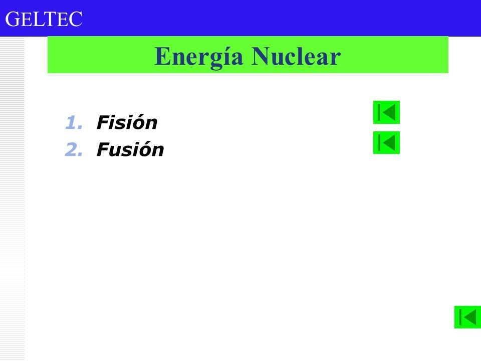 G E LT E C 1.Fisión 2.Fusión Energía Nuclear